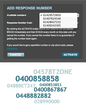 Receive inbound text messages on a virtual mobile number